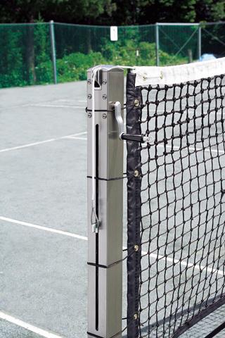 ATP750N ステンレステニスネットポスト (ギア内蔵式)角型