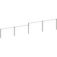 ステンレス4連2段平行低鉄棒