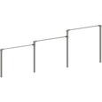 ステンレス幼児用3連低鉄棒